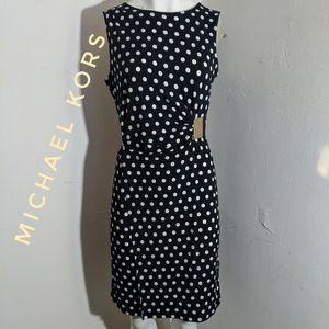Michael Kors black and white polka dot dress